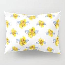 Be Safe - Save Bees linocut Pillow Sham