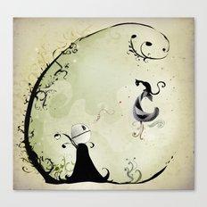 Cat Romance Canvas Print