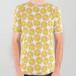 Watercolor Lemon All Over Graphic Tee