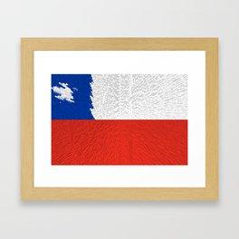 Extruded Flag of Chile Framed Art Print
