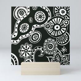 Secret World Black and White - Digital Art  Mini Art Print