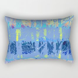 Abstract Forest Trees in Blue and Lilac Rectangular Pillow
