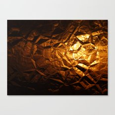 Golden Wrapper Canvas Print