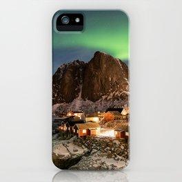 Northern Lights Over Hamnøy iPhone Case
