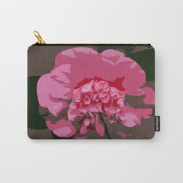 Pink Camelia Carry-All Pouch