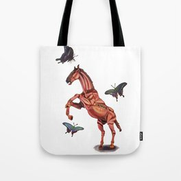 horse and butterfly Tote Bag