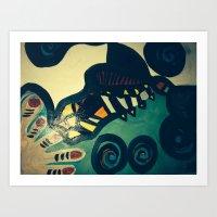 Lobster Attack Art Print