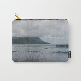 Two Surfers in a Sea - Kauai, Hawaii Carry-All Pouch