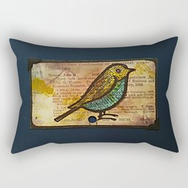bird and a library catalogue card 2 Rectangular Pillow