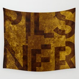 Pilsner Beer Typography Wall Tapestry