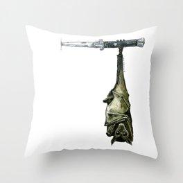 Street Bat Throw Pillow
