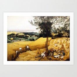The Harvesters Painting by Pieter Bruegel the Elder Art Print