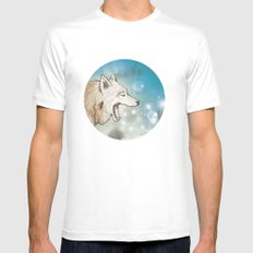 Scattered Mens Fitted Tee MEDIUM White