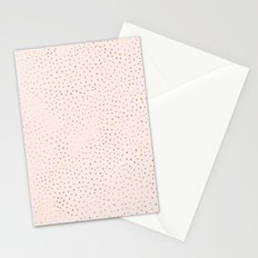 Dotted Gold & Pink Stationery Cards