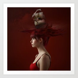 Sailing - Red Art Print