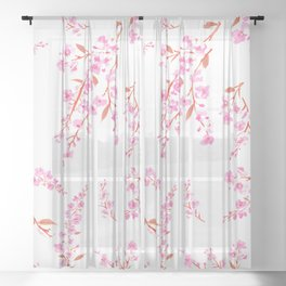 Cherry Blossoms floral Sheer Curtain