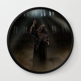 Wizard and magic staff Wall Clock