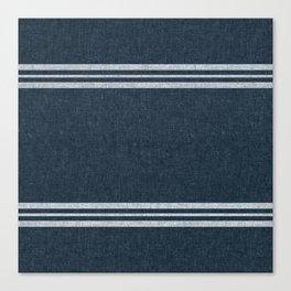 pimlico stripes - navy blue Canvas Print