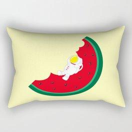 Space Odyssey   Astronaut Watermelon   Fruit   Summer   Watermelon Moon   pulp of wood Rectangular Pillow