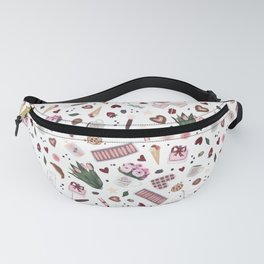 Hand Drawn Valentine Pattern Fanny Pack