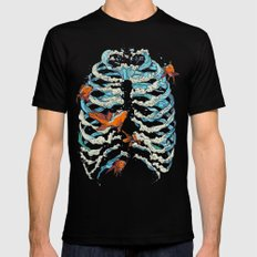 FISH BONE Black SMALL Mens Fitted Tee