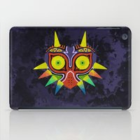 majoras mask iPad Cases featuring Majora's Mask Splatter by Greytel