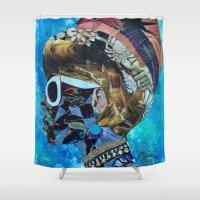 birthday Shower Curtains featuring Birthday by Katy Hirschfeld