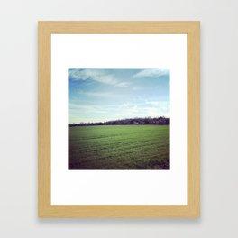 Crops Framed Art Print