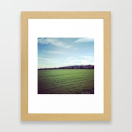 Crops Framed Art Print
