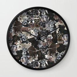 Schnauzer Collage Realistic Wall Clock