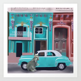 Hugo the Hutia in Havana Art Print