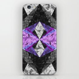 Marble Geometric Background G433 iPhone Skin