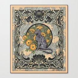 Cat Nouveau Canvas Print