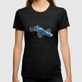 Blue vintage racing car / racecar T-shirt