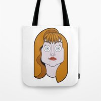 helen green Tote Bags featuring Helen Sharp by mattiaBAUvegni