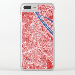 Vienna, Austria street map Clear iPhone Case