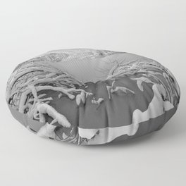 Wintry Lake Bohinj Floor Pillow