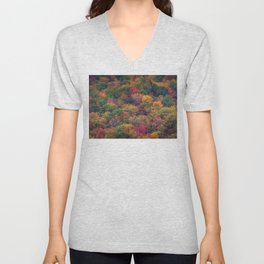 Fall Mountainside Unisex V-Neck