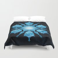 snowflake Duvet Covers featuring Snowflake by Salih Gonenli