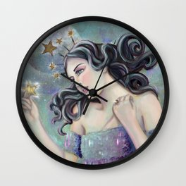 Asteria - Goddess of Stars Wall Clock