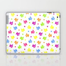 Cute retro hen and flowers Laptop & iPad Skin