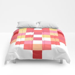 Squares of Love Comforters