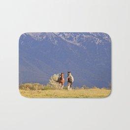 Paint Horses and Western Landscape Photograph Bath Mat