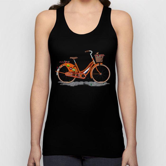 Love Holland, Love Bike Unisex Tank Top
