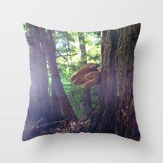 Twilight Fungus Throw Pillow