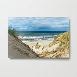 Sand Dune Beach Access North Sea Denmark Haurvig Metal Print