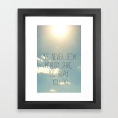 sky lyrics Framed Art Print