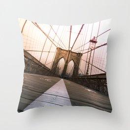 Brooklyn Bridge, New York City Throw Pillow