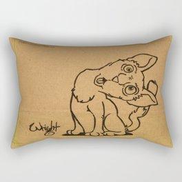 Kitten Napkin Art Rectangular Pillow