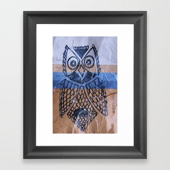 orange owl Framed Art Print